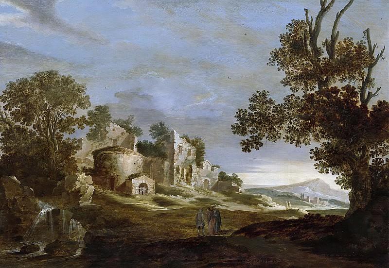 Hooch, Charles Cornelisz. de -- Landschap met de Emmaüsgangers, 1627. Rijksmuseum: part 3