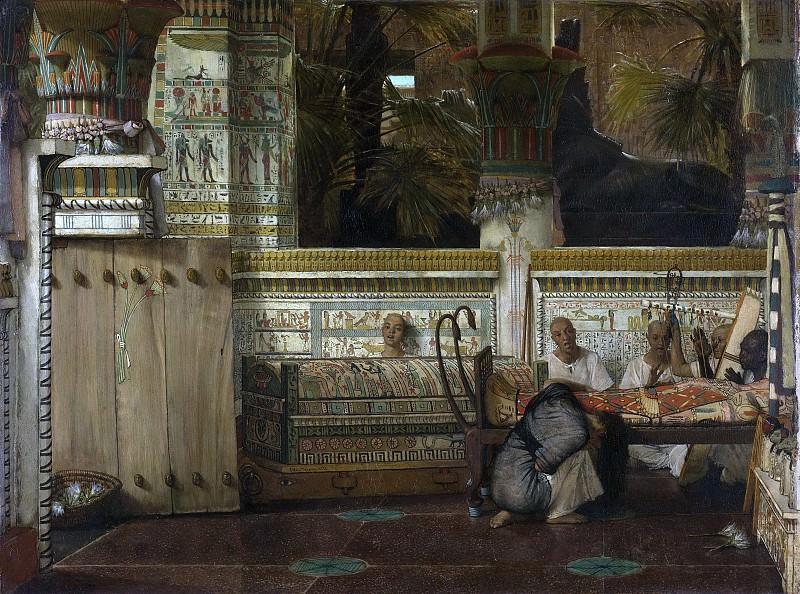 Лоренс Альма Тадема -- Египетская вдова, 1872. Рейксмузеум: часть 3