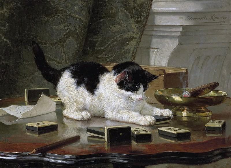 Хенриетта Роннер -- Играющий котёнок, 1860-1878. Рейксмузеум: часть 3