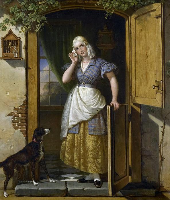 Йоханнес Хендрик ван Вест -- Любовное письмо, 1838. Рейксмузеум: часть 3