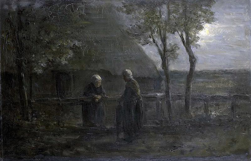 Йозеф Исраэлс -- Разговор соседок, 1897. Рейксмузеум: часть 3