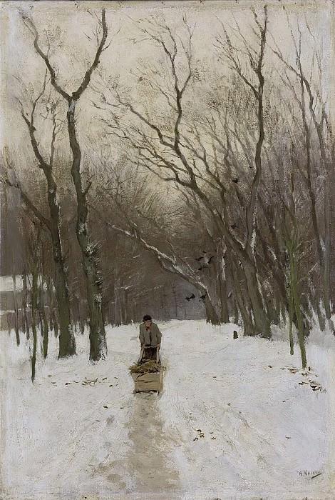Антон Мауве -- Зима в Схевенингских лесах, 1870-1888. Рейксмузеум: часть 3