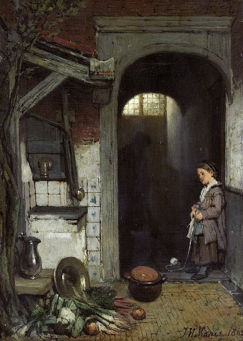 Maris, Jacob -- Achterplaatsje, 1862. Rijksmuseum: part 3