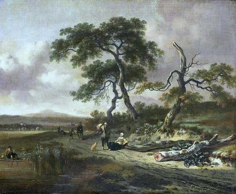 Wijnants, Jan -- Landschap met marskramer en rustende vrouw, 1669. Rijksmuseum: part 3