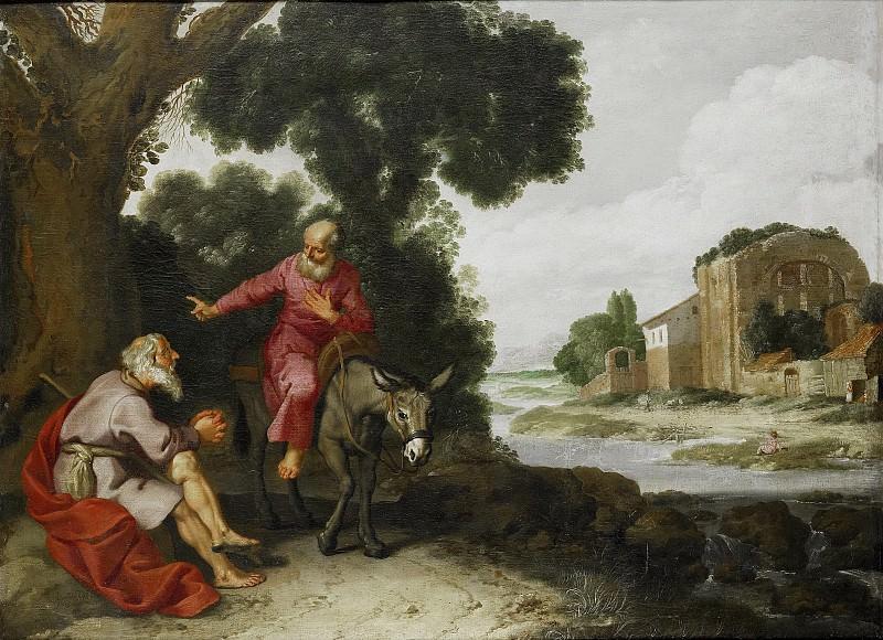 Якобс, Ламберт -- Случайная встреча пророка из Вифлеема и божьего человека из Иудеи, 1629. Рейксмузеум: часть 3