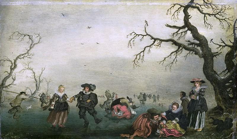 Адриан Питерс ван де Венне -- Любители кататься на коньках, 1625. Рейксмузеум: часть 3