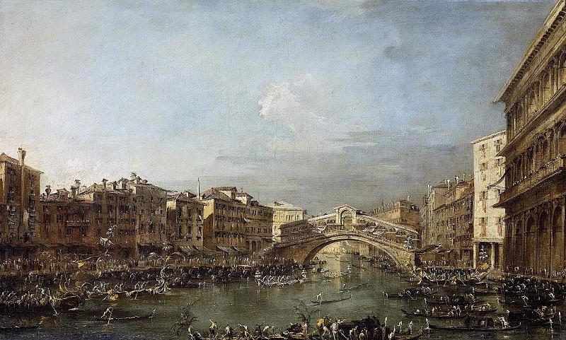 Франческо Гварди -- Регата на Большом канале и мост Риальто в Венеции, 1780-93. Рейксмузеум: часть 3