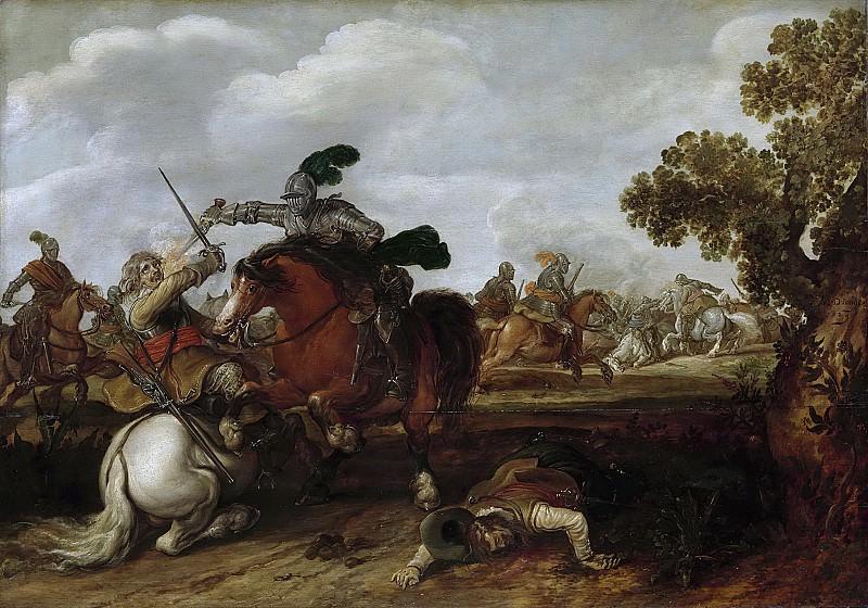Ян Мартсен де Йонге -- Схватка всадников, 1629. Рейксмузеум: часть 3