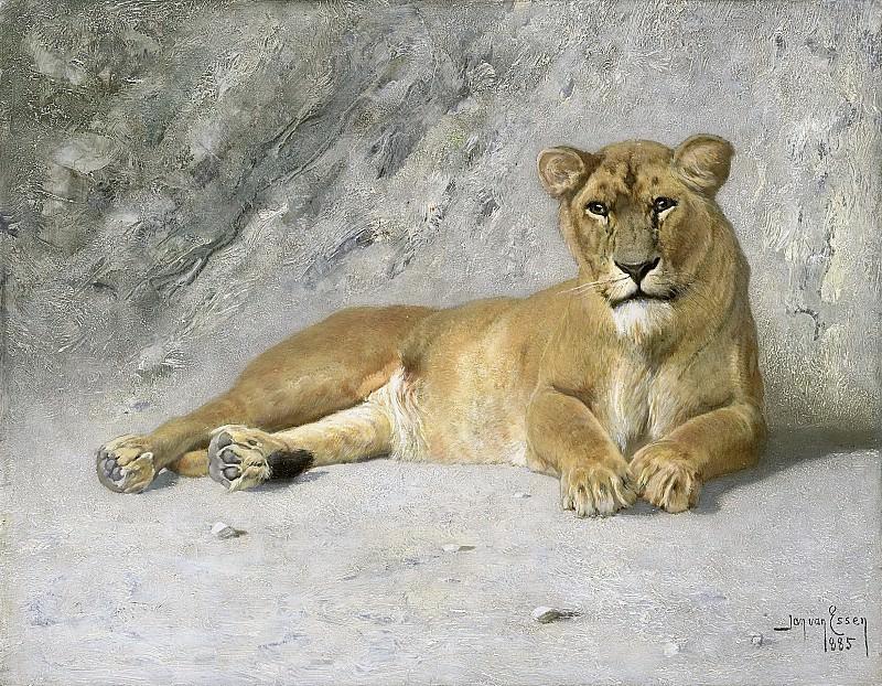 Essen, Jan van -- Rustende leeuwin, 1885. Rijksmuseum: part 3