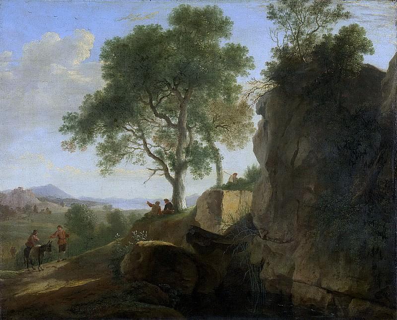 Swanevelt, Herman van -- Italiaans landschap, 1643. Rijksmuseum: part 3