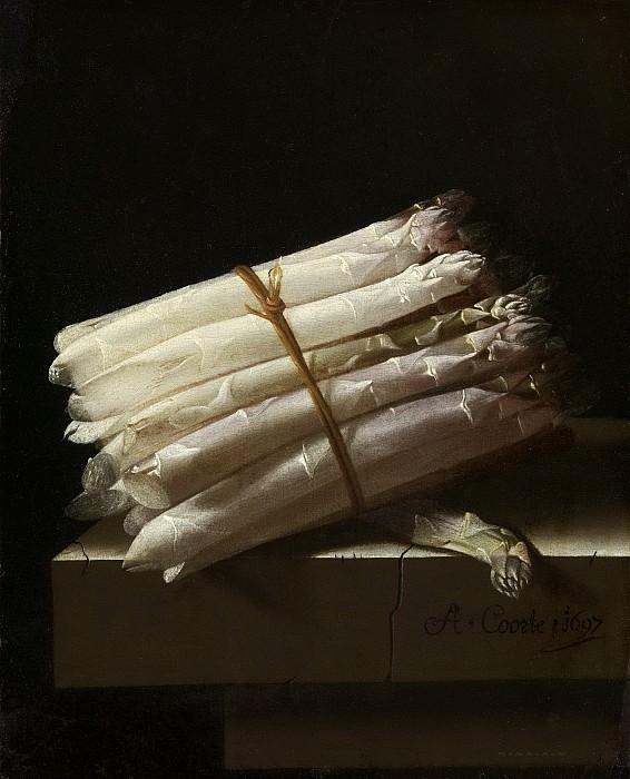 Адиан Корте -- Натюрморт со спаржей, 1697. Рейксмузеум: часть 3