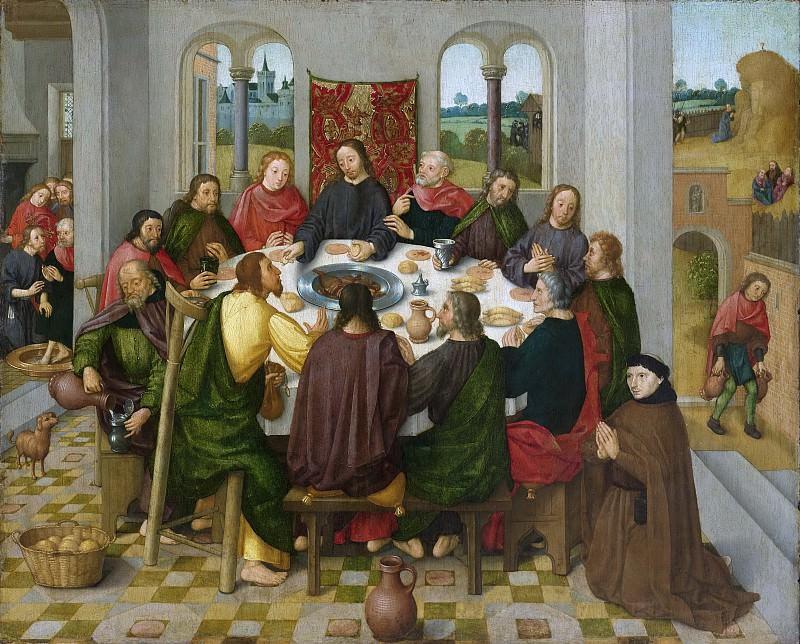 Мастер амстердамской картины «Успение Марии» -- Последний ужин, 1485-1500. Рейксмузеум: часть 3