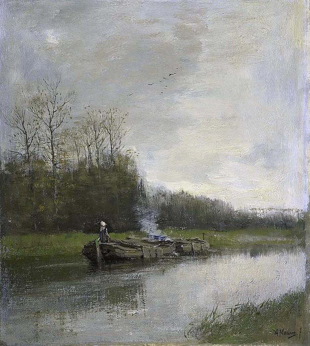 Антон Мауве -- Перемещение по каналу, 1860-1888. Рейксмузеум: часть 3