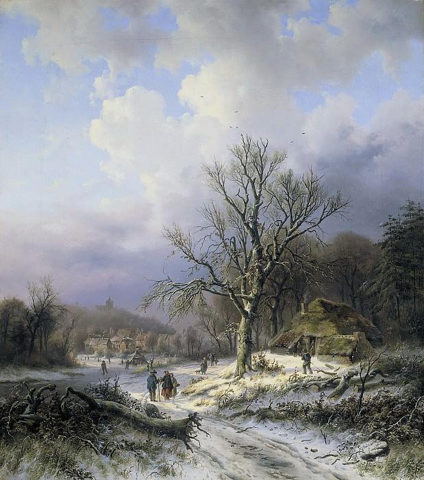 Daiwaille, Alexander Joseph -- Sneeuwlandschap, 1845. Rijksmuseum: part 3