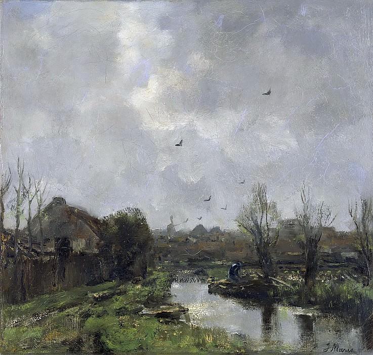 Марис, Якоб -- Пейзаж в окрестностях Гааги, 1891. Рейксмузеум: часть 3