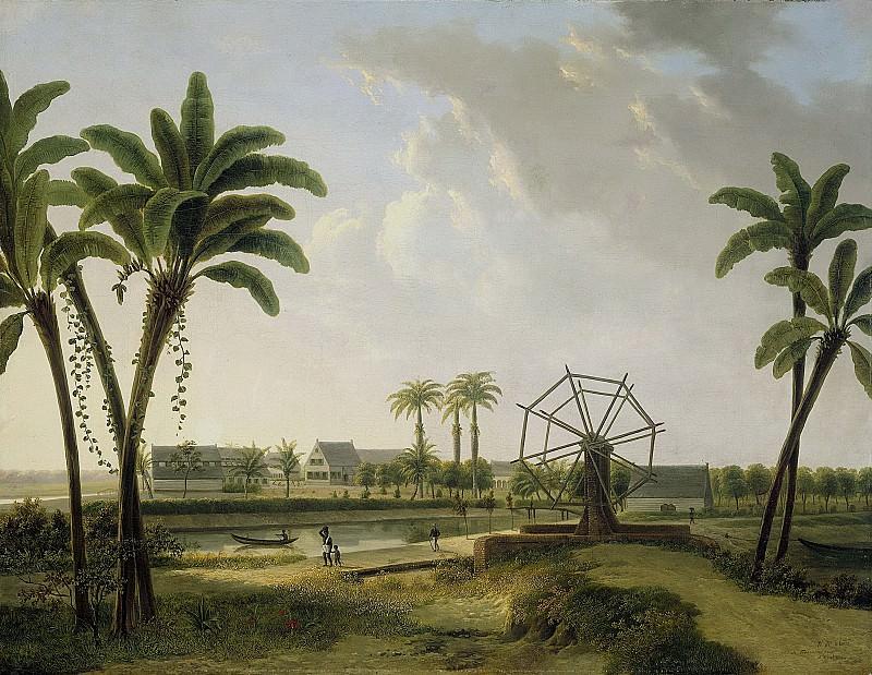 Klerk, Willem de -- Gezicht op de koffieplantage 'Meerzorg' aan het Taparoepikanaal in Suriname?, 1825-1876. Rijksmuseum: part 3