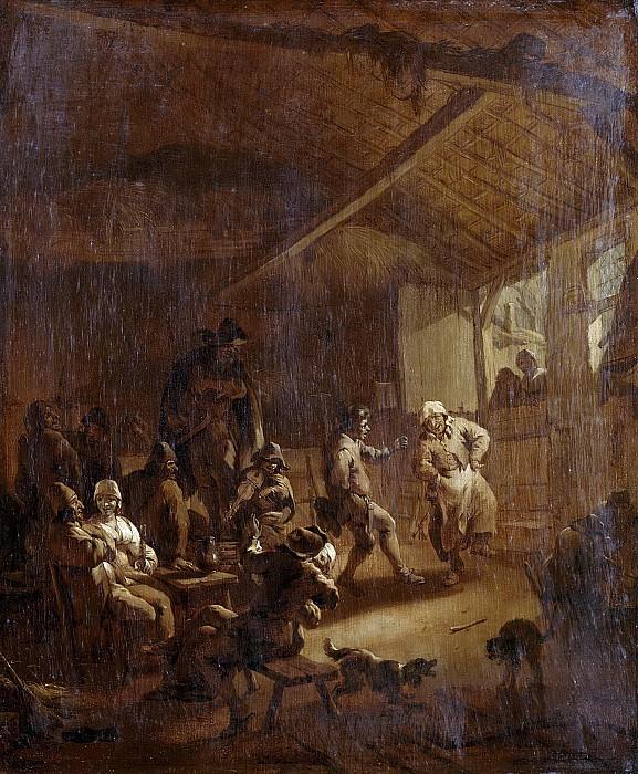 Berchem, Nicolaes Pietersz. -- Dansende boeren in een schuur, 1655-1683. Rijksmuseum: part 3