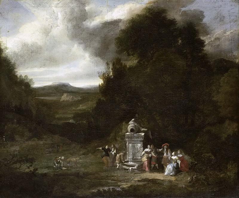 Неизвестный художник -- Компания в лесистой местности, 1680-1690. Рейксмузеум: часть 3