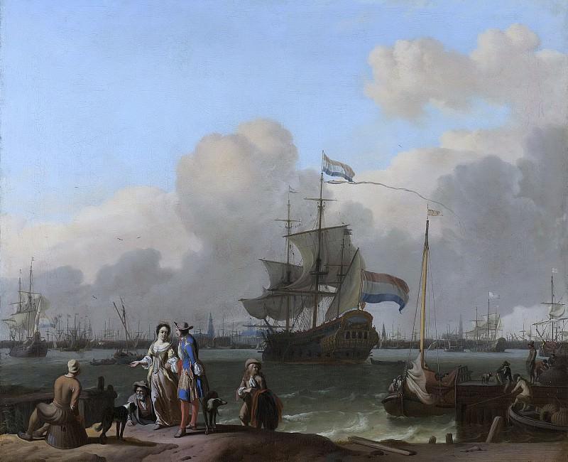 Bakhuysen, Ludolf -- Het IJ voor Amsterdam met het fregat 'De Ploeg'., 1680-1708. Rijksmuseum: part 3