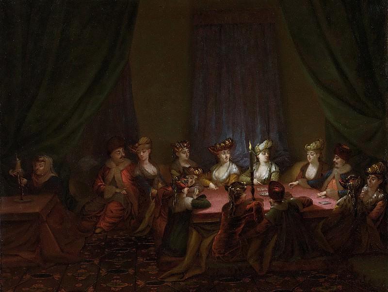 Жан Батист Ванмур -- Компания армян за игрой в карты, 1727-1737. Рейксмузеум: часть 3