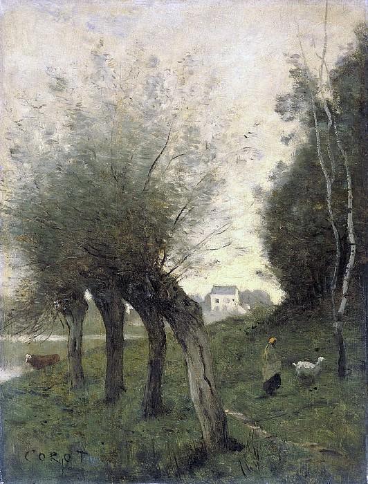 Corot, Camille -- Landschap met knotwilgen, 1840-1875. Rijksmuseum: part 3