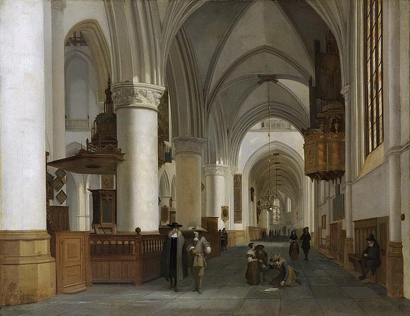 Berckheyde, Job -- De Sint Bavokerk te Haarlem van binnen, 1674. Rijksmuseum: part 3