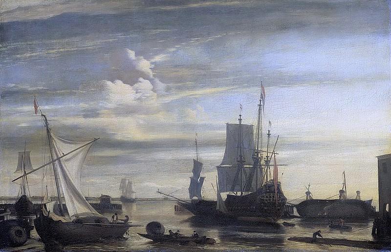 Ян Клас Ритсхоф -- Гавань в час заката, 1675-1699. Рейксмузеум: часть 3