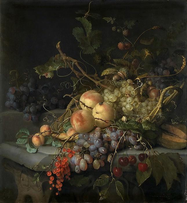 Якоб ван Вальскапелле -- Натюрморт с фруктами, 1670-1727. Рейксмузеум: часть 3