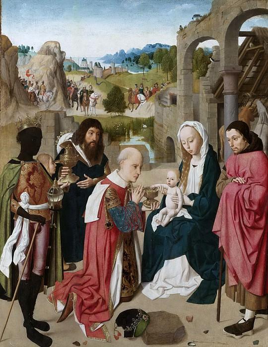 Geertgen tot Sint Jans -- De aanbidding der koningen, 1480-1485. Rijksmuseum: part 3