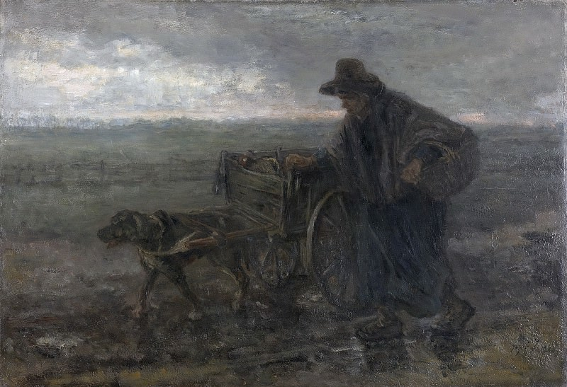 Йозеф Исраэлс -- Вдоль полей и по дорогам, 1892. Рейксмузеум: часть 3
