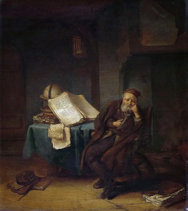 Spreeuwen, Jacob van -- Filosoof in zijn studeervertrek, 1645. Rijksmuseum: part 3