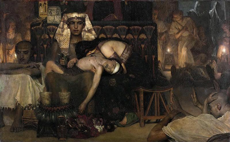 Alma Tadema, Lawrence -- De dood van de eerstgeborene van de Farao, 1872. Rijksmuseum: part 3