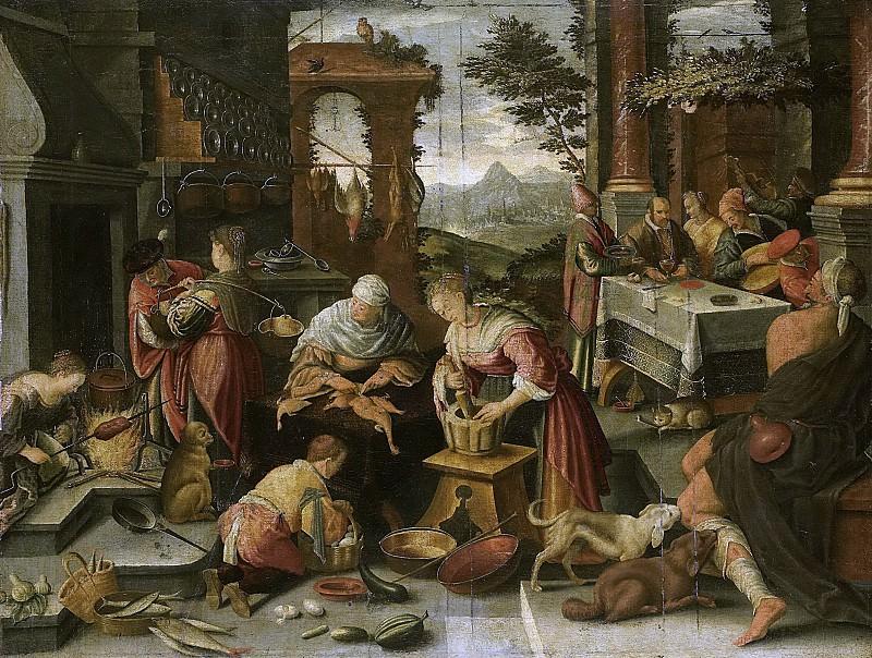 Якопо Бассано -- Богач и бедный Лазарь, 1544-1700. Рейксмузеум: часть 3