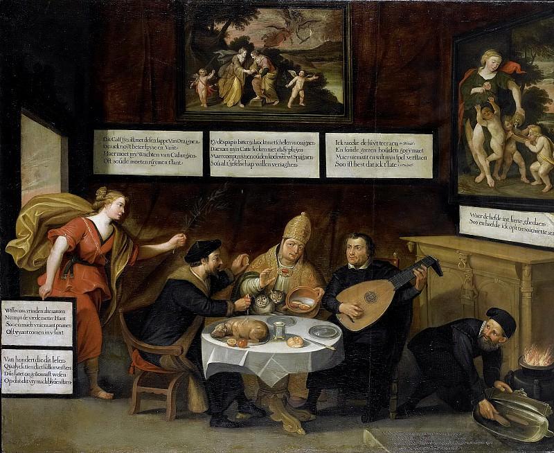 Unknown artist -- De Vrede maant de kerken tot verdraagzaamheid, 1600-1624. Rijksmuseum: part 3