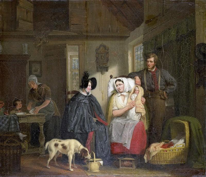 Мориц Калиш -- Визит женщины, принимавшей роды, 1835. Рейксмузеум: часть 3