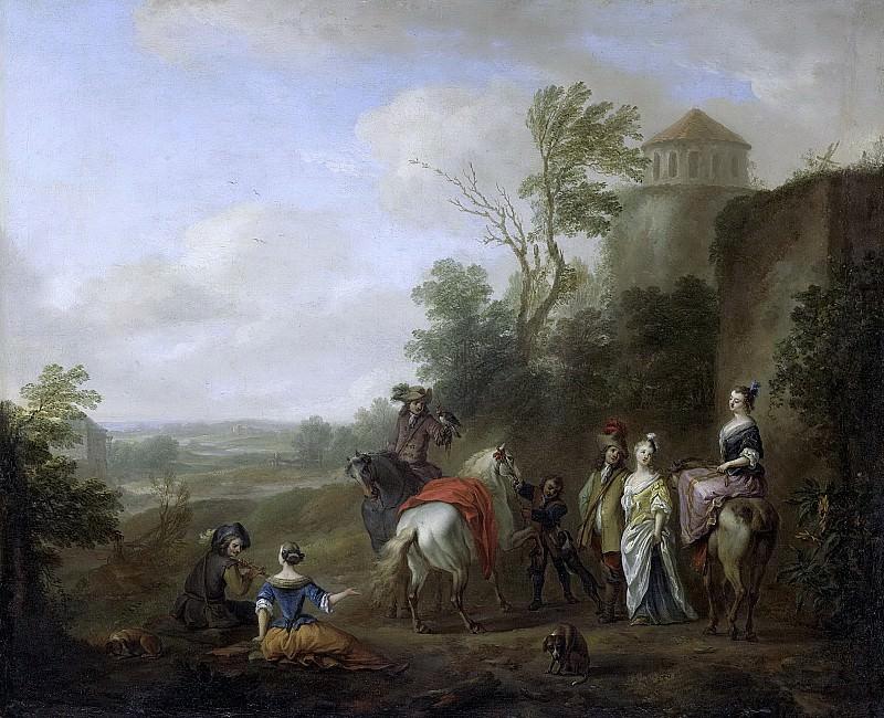 Falens, Karel van -- Jachtgezelschap, 1700-1733. Rijksmuseum: part 3