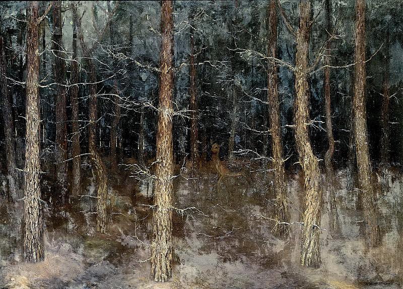 Wall Perné, Gust van de -- Mystieke paden', bosgezicht, 1907. Rijksmuseum: part 3