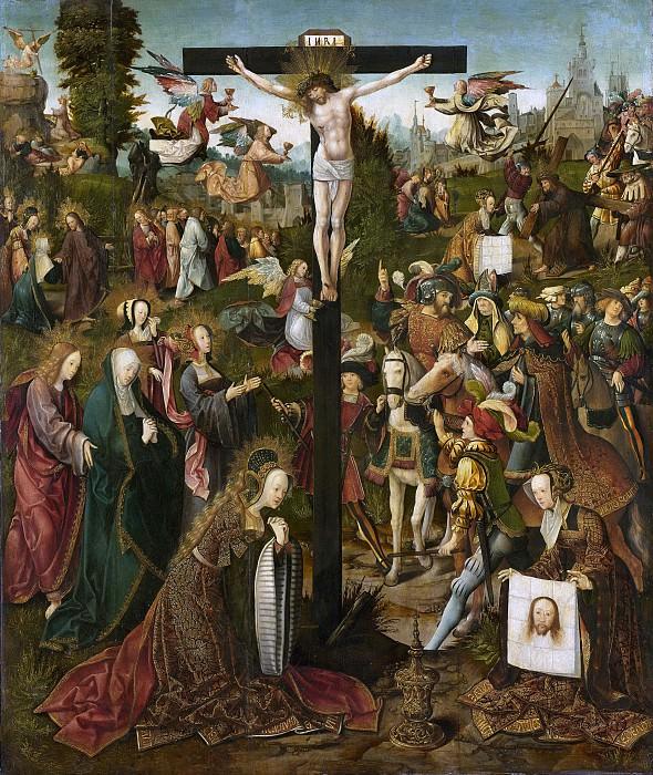 Якоб Корнелис ван Остсанен -- Распятие, 1507-1510. Рейксмузеум: часть 3