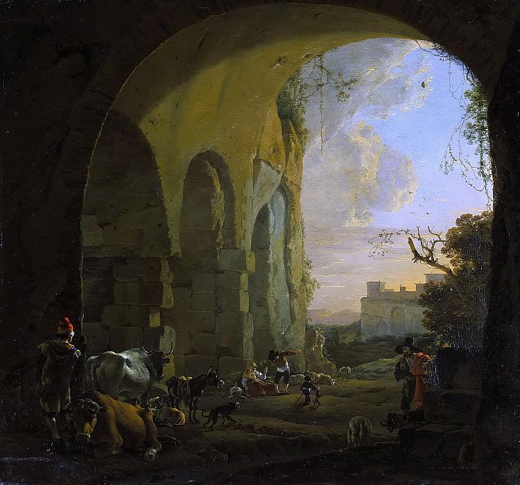 Asselijn, Jan -- Herders met vee onder een gewelf van het Colosseum te Rome., 1640-1652. Rijksmuseum: part 3