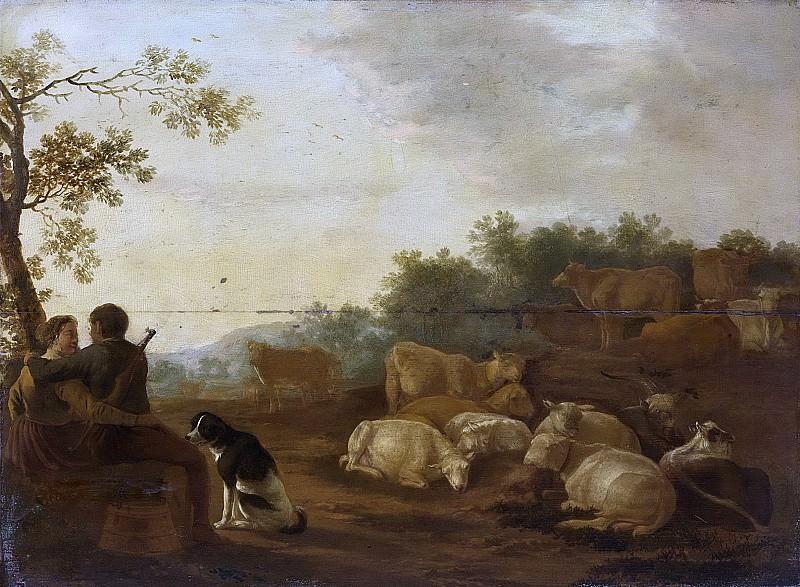 Ossenbeeck, Willem -- Landschap met herderspaar en vee, 1632. Rijksmuseum: part 3