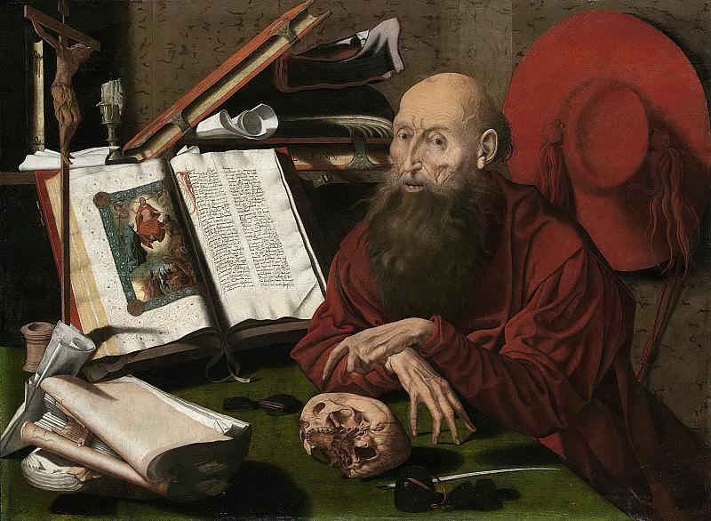 Reymerswale, Marinus van -- De heilige Hieronymus in zijn studeervertrek, 1535-1545. Rijksmuseum: part 3