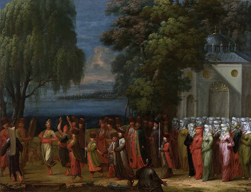 Vanmour, Jean Baptiste -- Armeense bruiloft, 1727-1737. Rijksmuseum: part 3