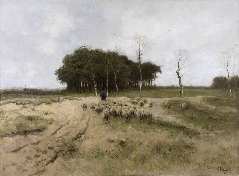 Антон Мауве -- Вересковая пустошь в Ларене, 1887. Рейксмузеум: часть 3