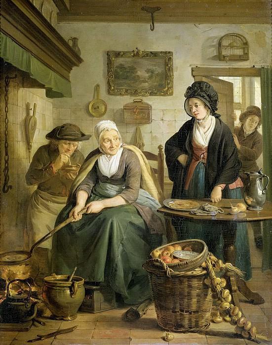 Lelie, Adriaan de -- De koekenbakster, 1790-1810. Rijksmuseum: part 3
