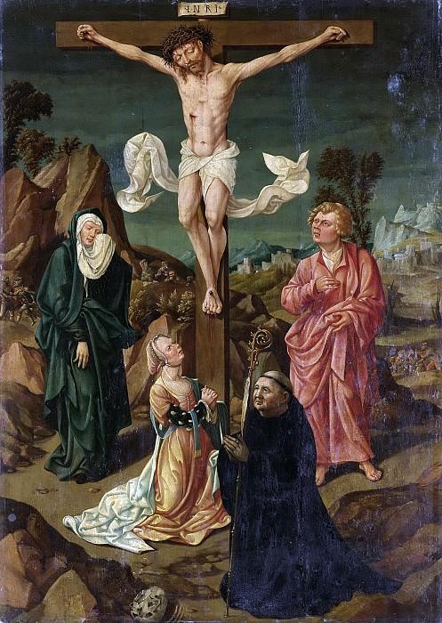 Неизвестный художник -- Распятие с Марией, Иоанном, Марией Магдаленой и донатором, 1500-1530. Рейксмузеум: часть 3