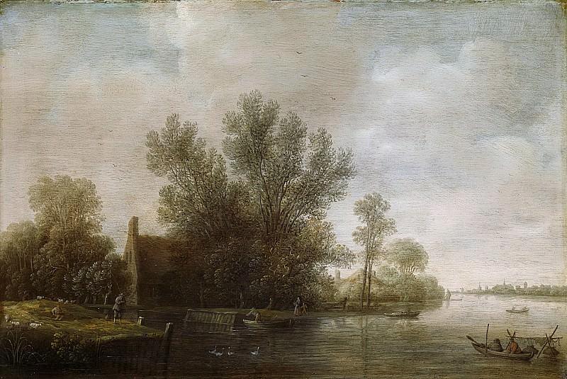Asch, Pieter Jansz. van -- Rivierlandschap, 1630-1650. Rijksmuseum: part 3