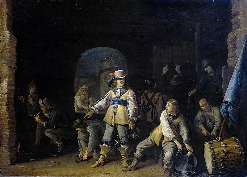 Palamedesz., Anthonie -- Wachtlokaal met soldaten, 1647. Rijksmuseum: part 3