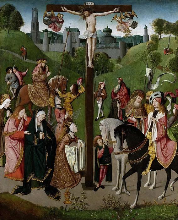 Meester van de Kruisafneming van Figdor -- Christus aan het kruis, 1505. Rijksmuseum: part 3
