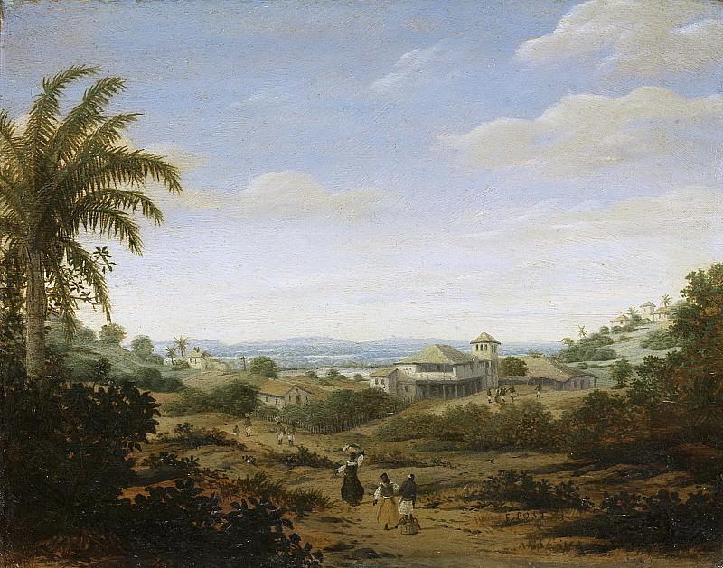 Post, Frans Jansz. -- Landschap bij de rivier Senhor de Engenho, Brazilië, 1644-1680. Rijksmuseum: part 3