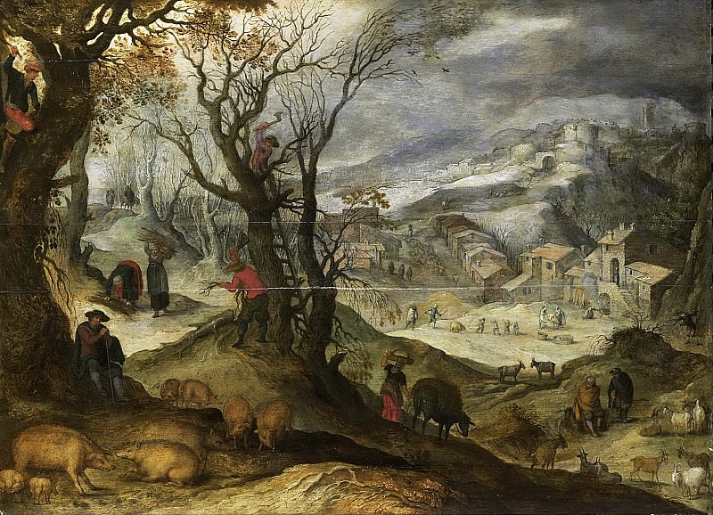 Bril, Paul -- Winterlandschap, 1615-1650. Rijksmuseum: part 3